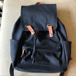 Everlane Navy Blue Snap Backpack